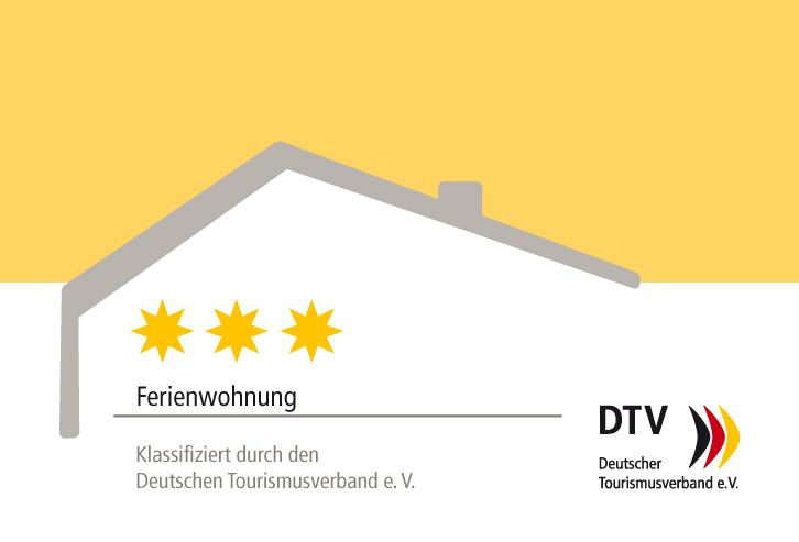 3 Sterne Klassifizierung durch den Deutschen Tourismusverband e.V.